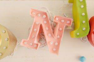 mini lettere luminose faidate