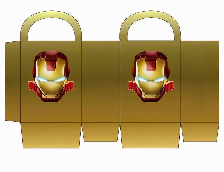 Iron Man: Bolsa de Papel para Imprimir Gratis.
