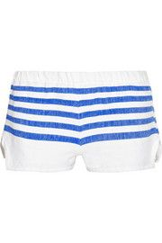 LemLem Lilly striped cotton-blend gauze shorts