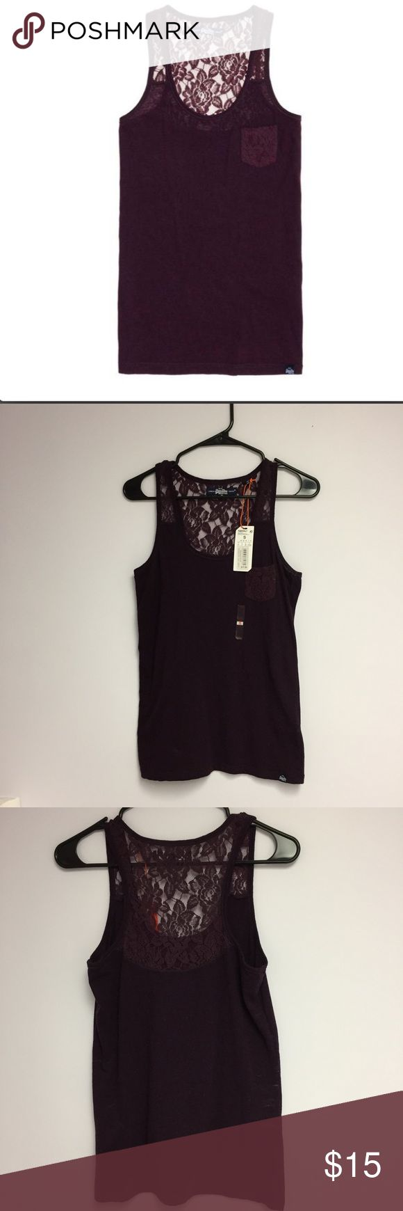 Superdry Tank Top •Pull over styling  •lace pocket, lace on back top portion  •sleeveless  •Body: 52% Polyester 37% Cotton 11% Viscose •Machine Washable cold  •Color: Blackened Purple    🌻NO TRADES 🌻OFFERS WELCOMED! 🌻BUNDLE TO SAVE  🌻FEEL FREE TO ASK ANY QUESTIONS Superdry Tops Tank Tops