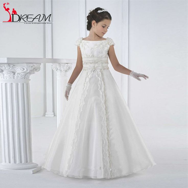 Find More Flower Girl Dresses Information about 2016 Graceful Girls First Holy Communion Dresses For Little Girls White Sleeveless Scoop Neck Cheap Flower Girls Pageant Dresses,High Quality girl dress for wedding,China girls dresses outlet Suppliers, Cheap girls junior dresses from Orenda Wedding Dress Factory on Aliexpress.com