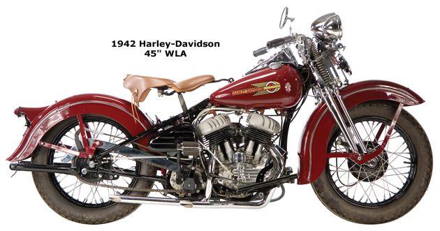 photo of a 1945 harley-davidson WLA model Harley Davidson Knucklehead, Harley Davidson Chopper, Vintage Harley Davidson, Harley Davidson Custom Bike, Harley Davidson Wallpaper, Classic Harley Davidson, Harley Davidson Street Glide, Harley Davidson Motorcycles, Harley Davison