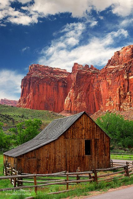 Old Barn Near Fruita at Capitol Reef National Park, Utah