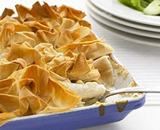 Crunchy Fish Pie   PHILADELPHIA #recipes #fishrecipes