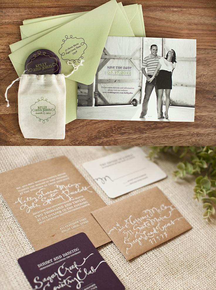 fun modern wedding invitations%0A Kelly  u     John u    s modern wedding invitations