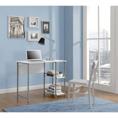 Phenomenal Mainstays Garrett Metal Office Desk With 2 Side Shelves Home Interior And Landscaping Analalmasignezvosmurscom