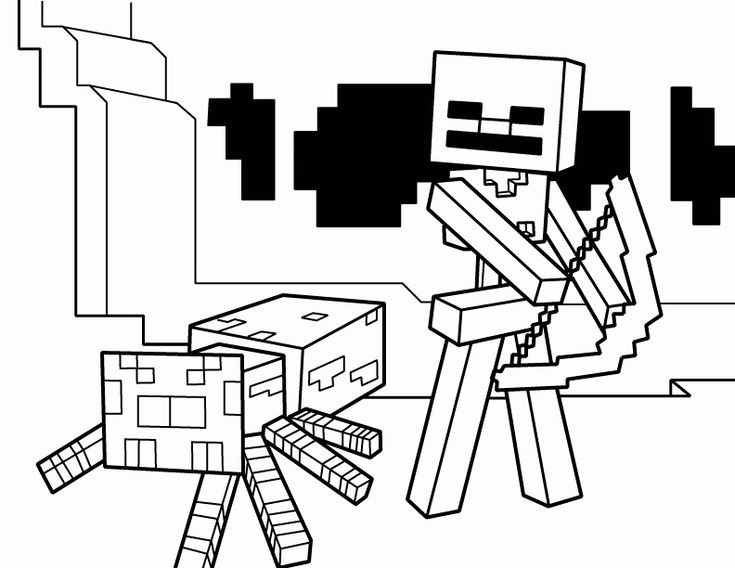 Minecraft Skeleton Coloring Page Best Of Minecraft ...