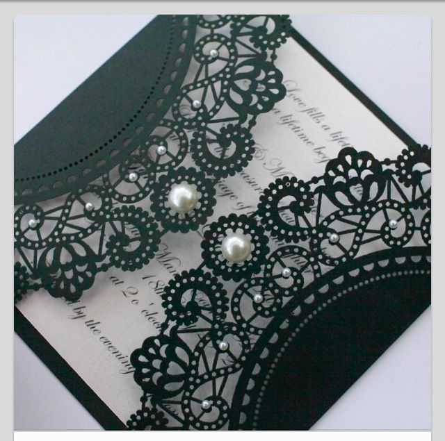 Beautiful invite. I want a black and white wedding.