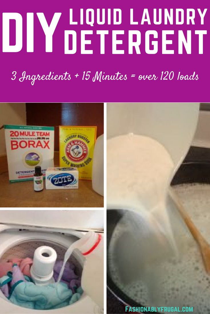 Do you have sensitive skin? Are you sick of spending $10 a month on liquid laundry detergent? Make your own instead with just 3 ingredients.