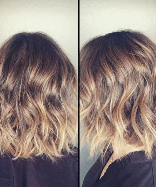 10 Chic Wavy Bob Haircuts 3 Honey Wavy Lob With Blonde