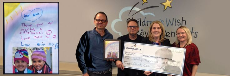 Charity Cards supports The Children's Wish Foundation of Canada