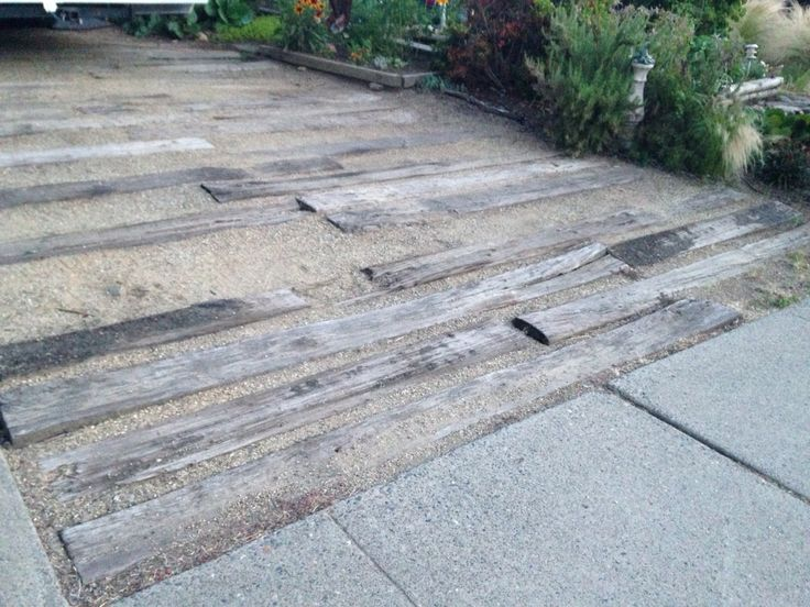 Decomposed granite and wood driveway. Strong enough for an RV!