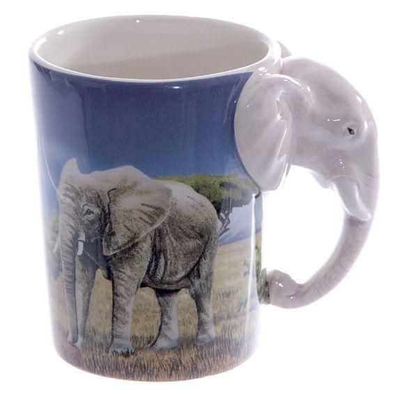 Coffee Cup Ceramic Fun Safari Printed Animal Mug by getgiftideas
