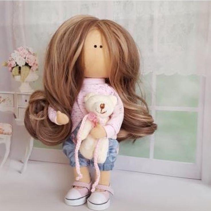 """363 Me gusta, 1 comentarios - ⠀⠀🌷⠀Ручная работа⠀🍃 Handmade 🌷 (@planet_of_handmade) en Instagram: """"Игровая кукла рост 25 см, голова поворачивается, волосы мелированные можно расчесывать, ручки…"""""""