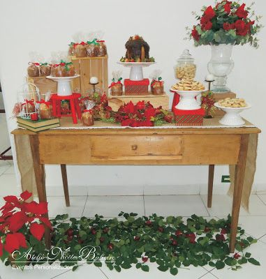 Ateliê Nicete Balieiro: Mesa de Natal - Jantar de Casais