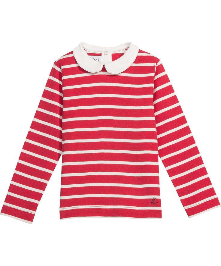 Petit Bateau lovely red striped blouse with white collar. petit-bateau.en.emilea.be