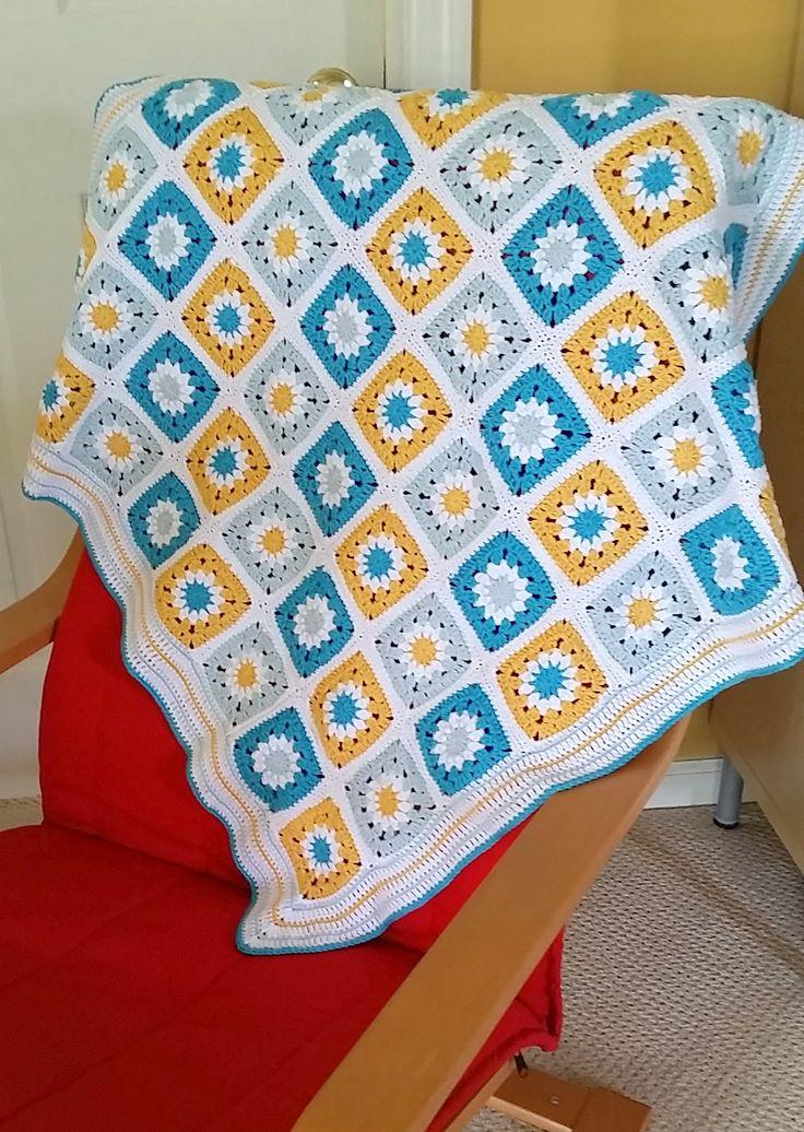 Excepcional Ondulación Crochet Patrón Afghan Modelo - Manta de Tejer ...
