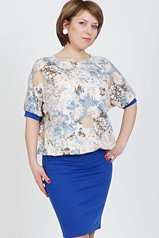 Комбинированное платье с напуском Малина-239 - интернет-магазин Moda-nsk