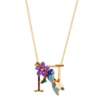 Les Nereides initial gold floral necklace - want