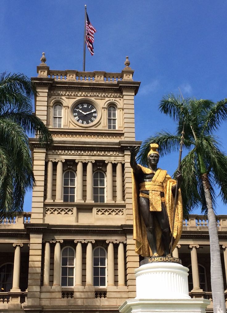 You know it as Hawaii Five-0 headquarters. In reality, it is actually the Aliʻiōlani Hale, the Hawaiian Supreme Court building across the street from ʻIolani Palace. It is also the location of the iconic King Kamehameha statue. Photo copyright by Karina Chapman. All rights reserved.