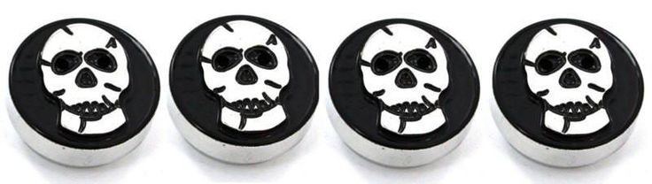 All Sales Interior Dash Knobs (set of 3 & 4wd knob)- Skull Black