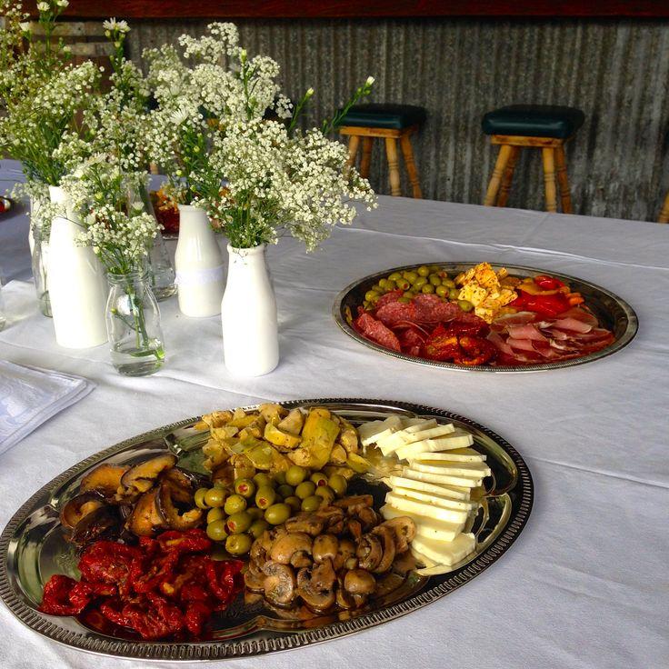 Mezze platters! #ivyandmoss #morefoodblog #wedding #eventstyling #catering #weddingfood #mezzeplatters #foodie #weddingcanapes #countrywedding #ciderbarn