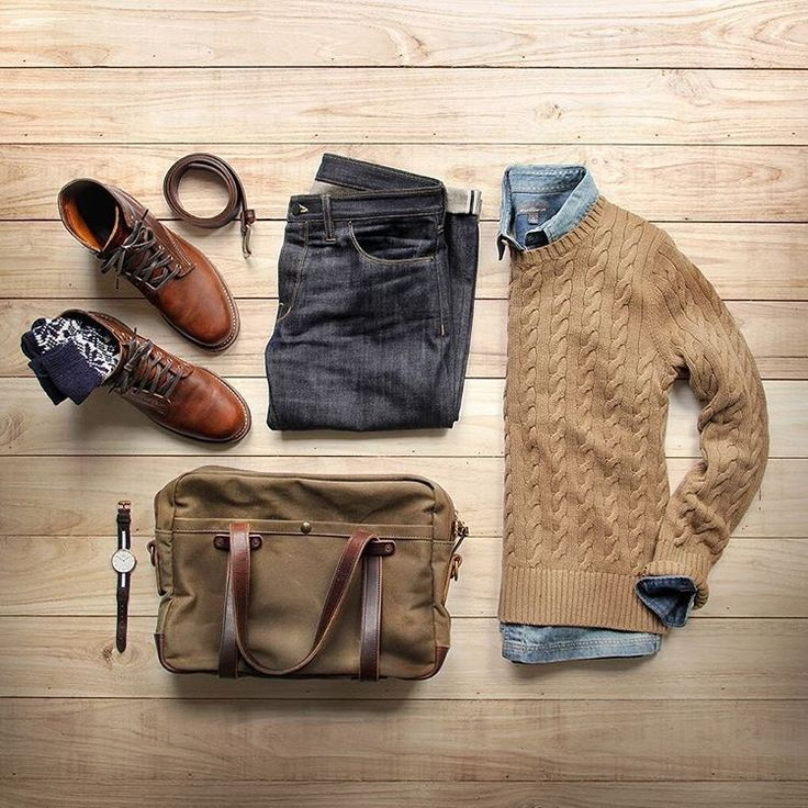 Sweater, jeans, boots