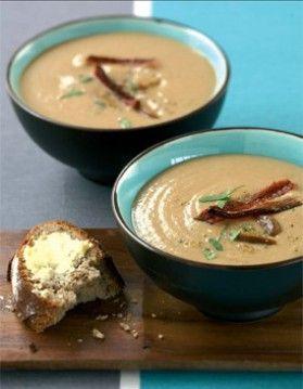 soupe de chataignes au lard croustillant