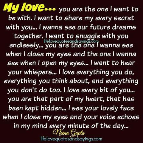 My love.   Life Love Quotes II   Pinterest   Love Quotes, Love life quotes  and Love dd6f1b4082