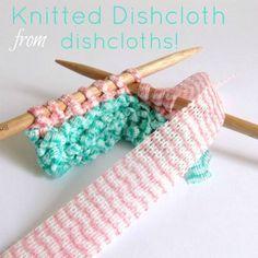 Tricotar um pano de prato de panos de limpeza.
