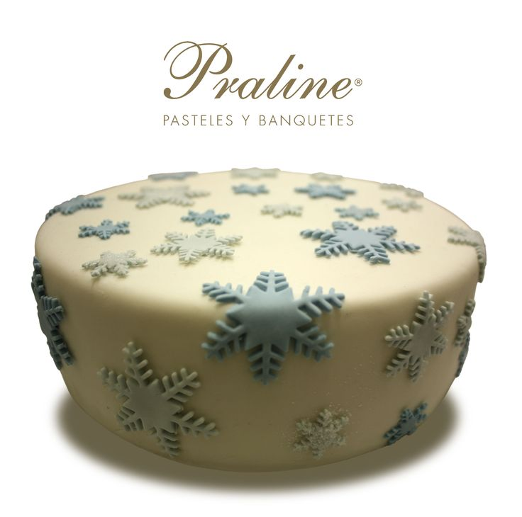 Pastel de Copos de nieve estilo frozen