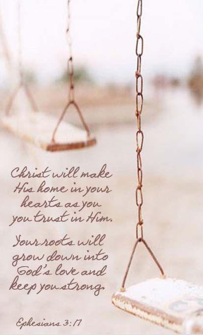 Ephesians 3:17 faith Bible verse. Scripture of salvation and spiritual inspiration.