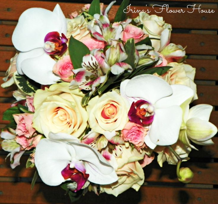 Orchid bridal bouquet - made by Irina's Flower House