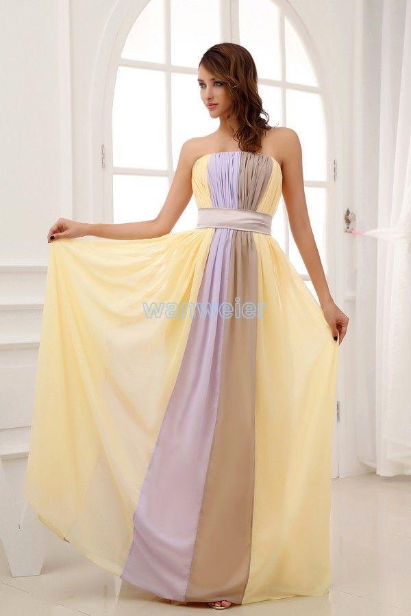 free shipping 2014 new design floor length brides maid dress maxi dresses long formal dress sexy chiffon Bridesmaid Dresses