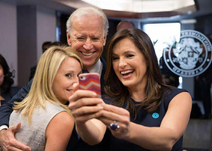 Mariska, Maile, and VP Biden Selfie
