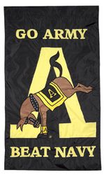 Kicking Mule A Banner  GO ARMY BEAT NAVY