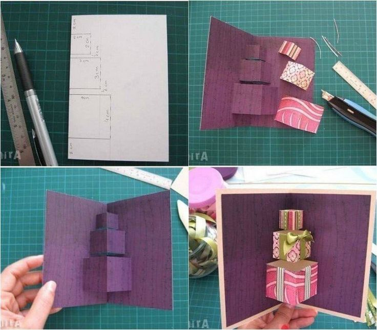 carte Pop-up pour Noël à fabriquer et à décorer soi-même