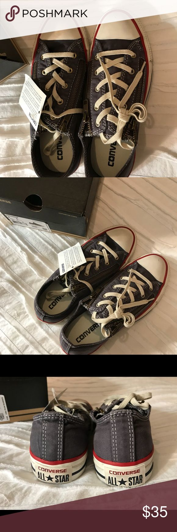💜NWT Women's Converse Zip Slip Size 6 Gray💜 So cute Converse Shoes Athletic Shoes