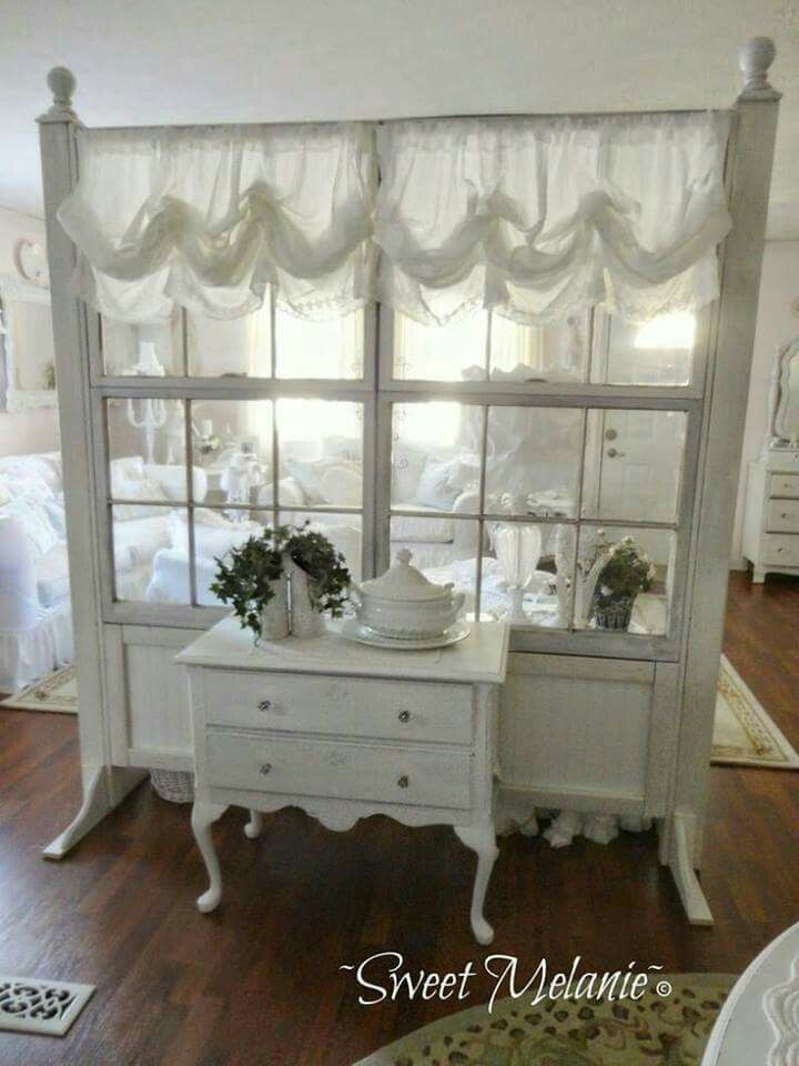 Room Divider From Old Windows Or Doors Decorating