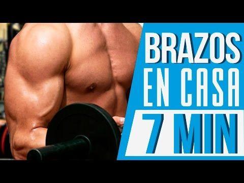 EJERCICIOS PARA BRAZOS EN CASA - Rutina bíceps y tríceps 7 min - YouTube