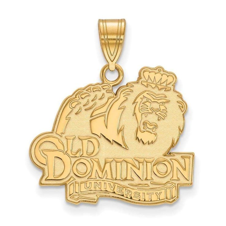 Sterling Silver w/GP LogoArt Old Dominion University Large Pendant