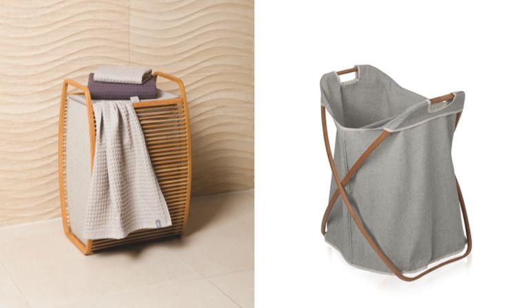 Der ewige Kampf der Weiß- und Buntwäsche ist endlich vorbei: Jetzt kann schon beim Hineinwerfen getrennt werden! Klappbarer Doppel-Wäschekorb Butterfly aus Canvas & Bambus - wäschekorb - heimatwerke - möve - Wäschetruhe -Wäschebehälter - Badezimmer - Schlafzimmer-Design - Deko Bambus und Canvas