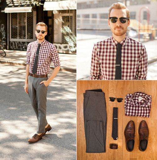 Shirt: Land's End Canvas - $19 Pants: Topman - $50 Shoes - Alfani (bought at Buffalo Exchange) - $25 Tie - Etsy - $12 Tiebar - The Tie Bar - $15 Sunglasses - Ray Ban Clubmasters Belt - H - $10