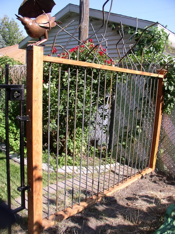 Rebar Fence Welding Ideas Pinterest Fence Gates And