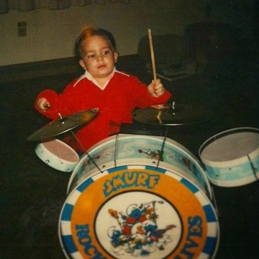 """#tbt Here's a guy photo of me in 1983 playing a drum-heavy version of Quiet Riot's """"Cum on Feel the Noize"""" #magic #magician #comedymagic #entertainment #eventprofs"""