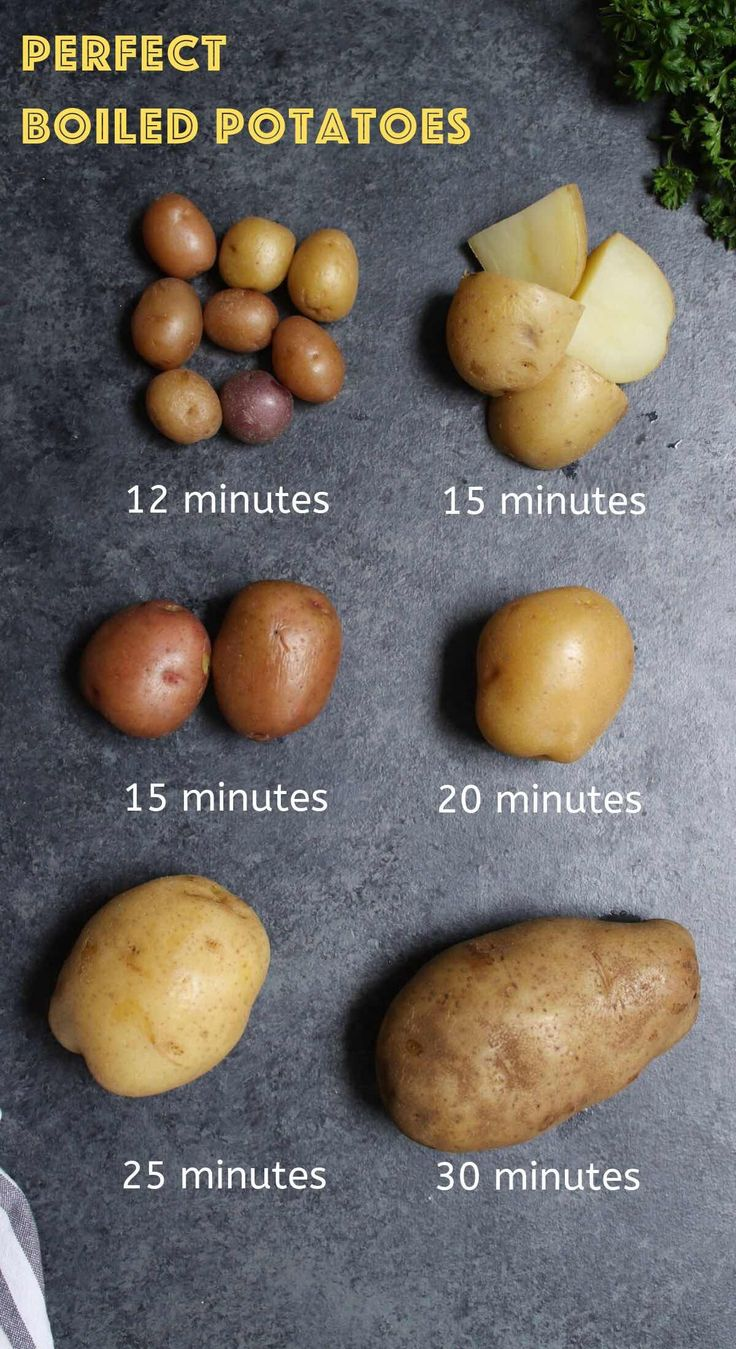 Apr 2, 2020 – The essential guide for how long to boil any potato. It takes as little as 15 minutes on the stovetop or j…