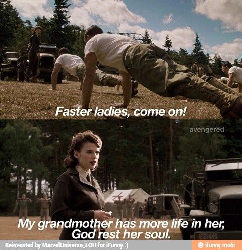 """""""Faster ladies"""" ---> I love this woman. 