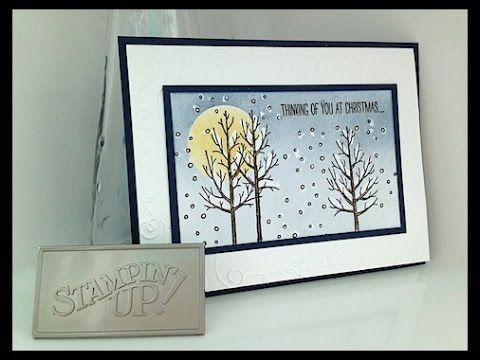 Simply Simple NOW OR WOW - White Christmas Crayon Resist by Connie Stewart
