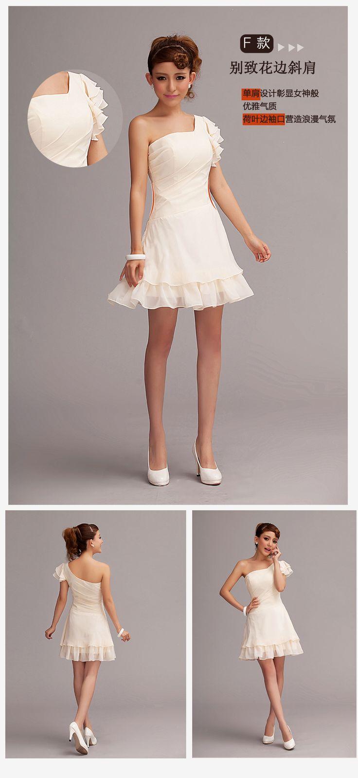 6 clases de estilo de vestido de fiesta corto de dama de honor del vestido de la falda del todo el tamaño del envío libre a estrenar en Vestidos de Damas de Honor de Moda y Complementos en AliExpress.com | Alibaba Group