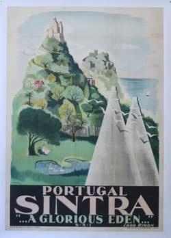 Sintra, Portugal, Vintage Poster